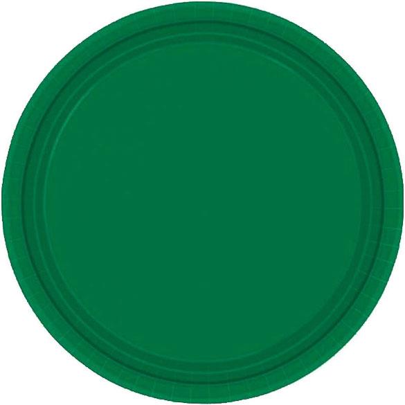 Platos Verdes lisos 17,80 cm, Pack 8 u.