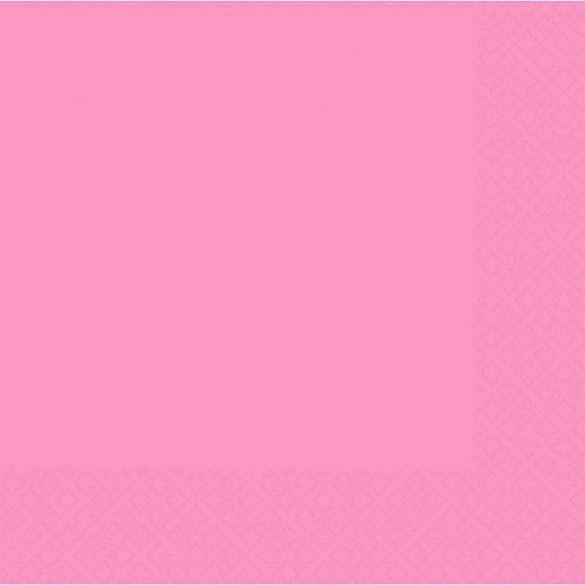 Servilletas lisas rosa 33 x 33 cm, Pack 20 u.