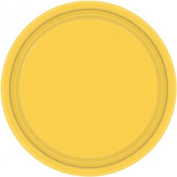 Platos Amarillos lisos 22,90 cm, Pack 8 u.