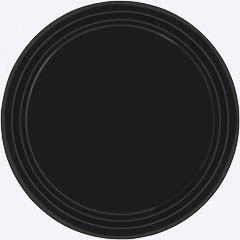 Platos Negros lisos 17,80 cm, Pack 8 u.