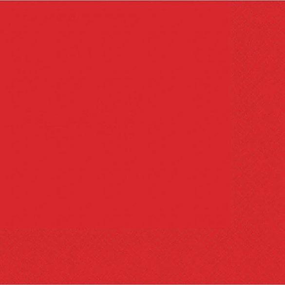 Servilletas lisas rojas 25 x 25 cm, Pack 20 u.