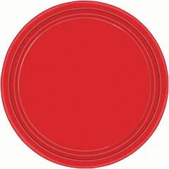 Platos Rojos lisos 17,80 cm, Pack 8 u.
