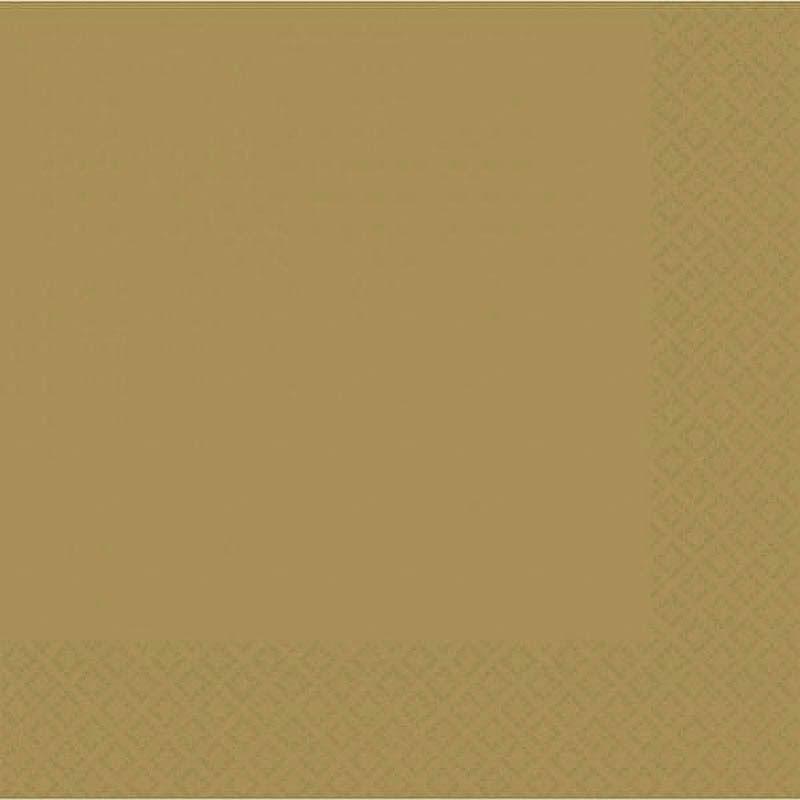 Servilletas lisas doradas 33 x 33 cm, Pack 20 u.