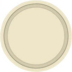 Platos Crema lisos 17,80 cm, Pack 8 u.