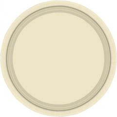 Platos Crema lisos 22,90 cm, Pack 8 u.