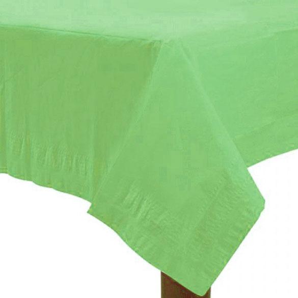 Mantel liso verde pistacho 274 x 137 cm impermeable, Pack 1 u.