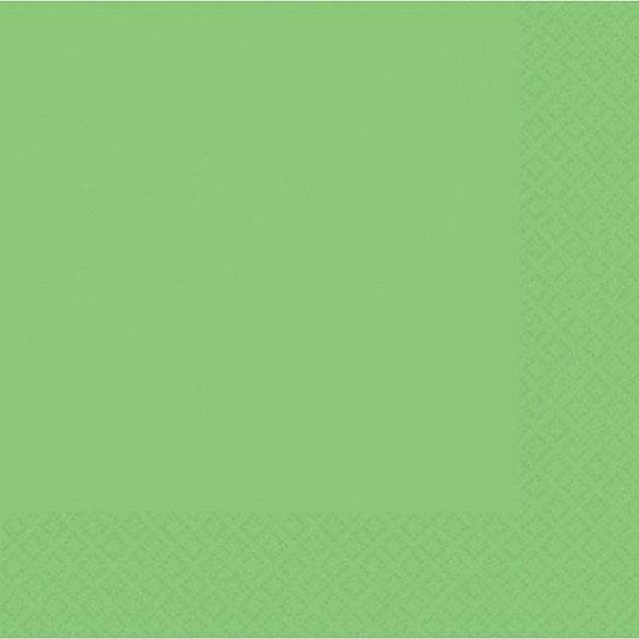 Servilletas lisas verde pistacho 25 x 25 cm, Pack 20 u.