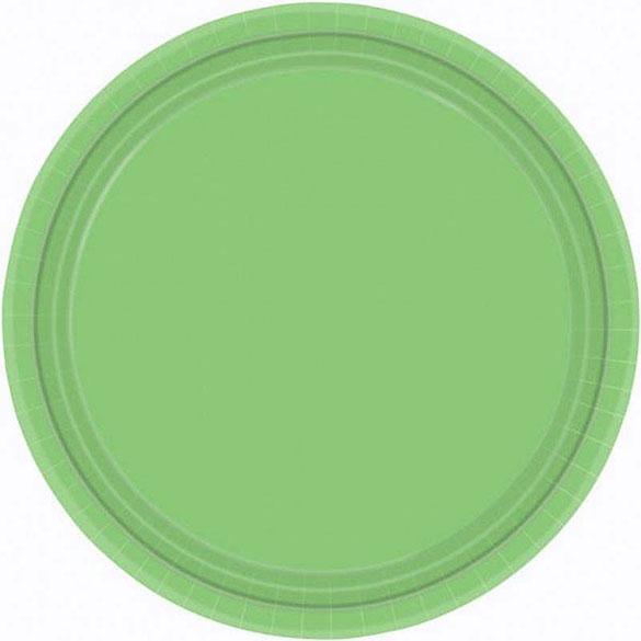 Platos Verdes kiwi lisos 17,80 cm, Pack 8 u.
