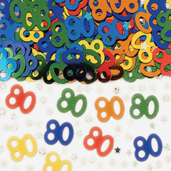 Confeti metálico 80 años
