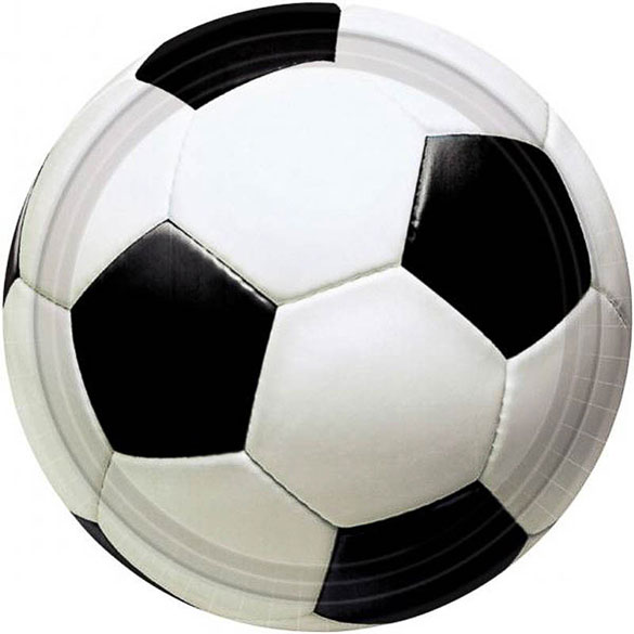 Platos Fútbol 17,80 cm, Pack 8 u.