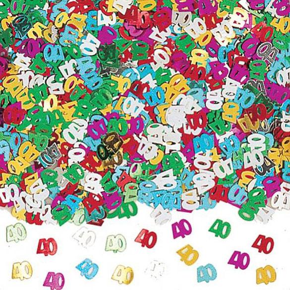 Confeti metálico 40 años
