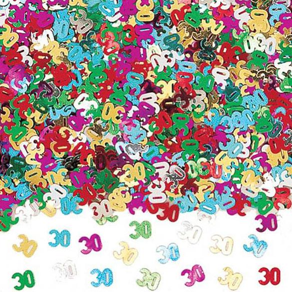 Confeti metálico 30 años