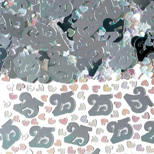Confeti metálico 25 aniversario