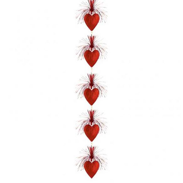 Colgante de corazones en cascada