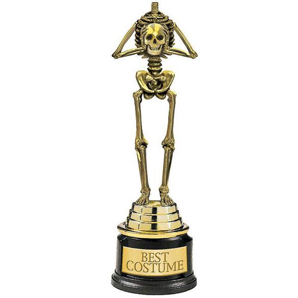 Trofeo esqueleto Halloween