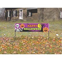 Pancarta jardín Happy Halloween