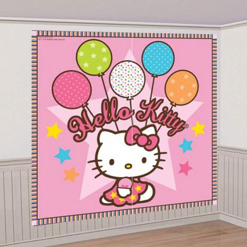 Fondo de Pared Hello Kitty. Decoración Fiestas