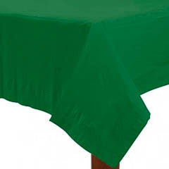 Mantel liso verde 274 x 137 cm impermeable, Pack 1 u.