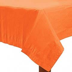 Mantel liso naranja 274 x 137 cm impermeable, Pack 1 u.