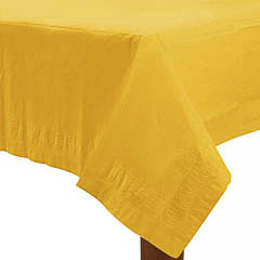 Mantel liso amarillo 274 x 137 cm impermeable, Pack 1 u.