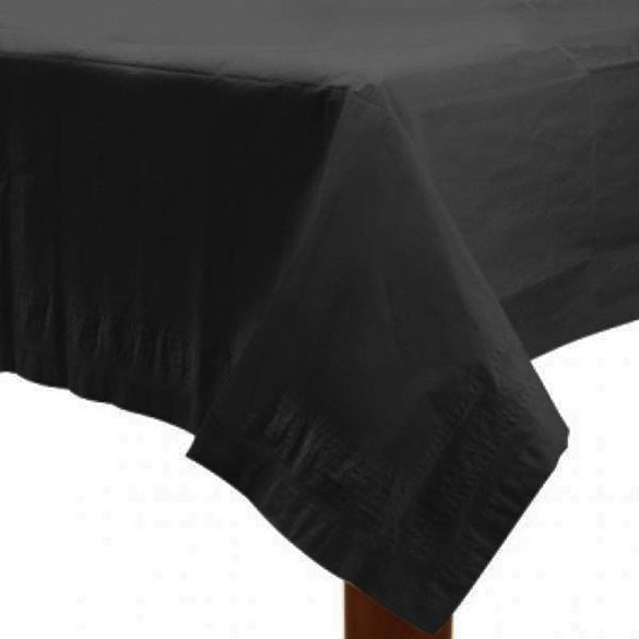 Mantel liso negro 274 x 137 cm impermeable, Pack 1 u.