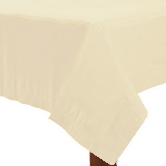Mantel liso crema 274 x 137 cm impermeable, Pack 1 u.
