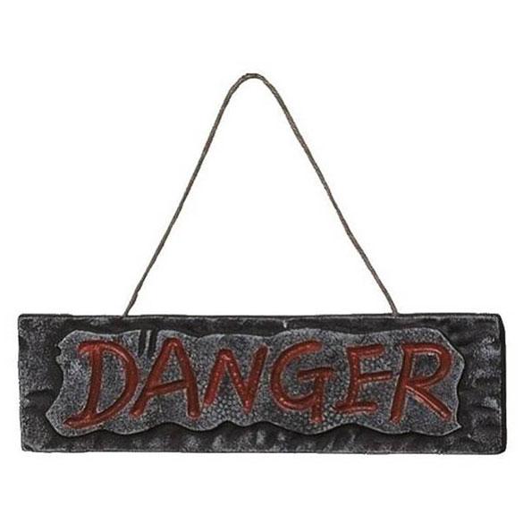 Letrero Danger. Decoración Halloween
