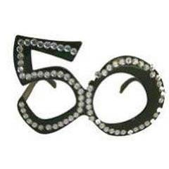 Gafas modelo 50 años con brillantes