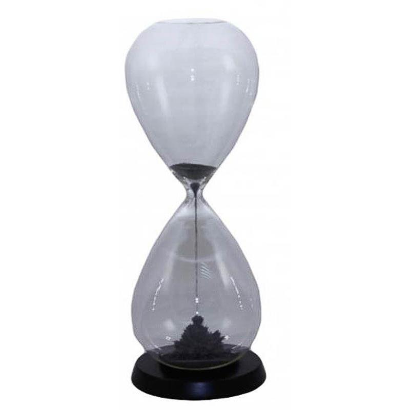 Reloj de arena imantada de color plata