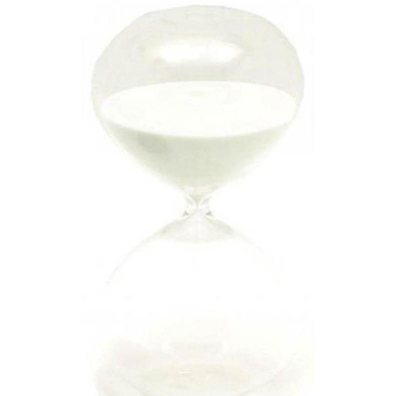 Reloj de arena de cristal y arena blanca 60 minutos