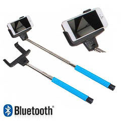 Palo extensible monopod azul bluetooth