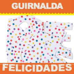 Guirnalda articulada Felicidades de cartón