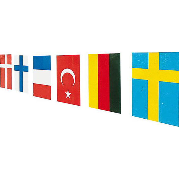 Guirnalda banderas internacionales de papel