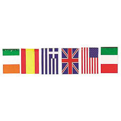 Guirnalda banderas internacionales de plástico