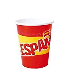 Vasos Bandera de España 200 ml, Pack 8 u.