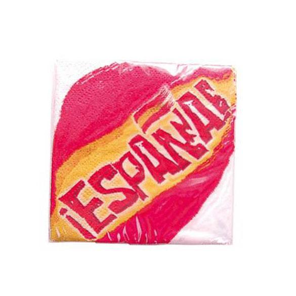 Servilletas Bandera de España 33 x 33 cm, Pack 20 u.