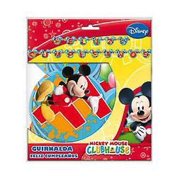 Guirnalda Feliz cumpleaños Mickey Mouse