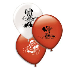 Pack de 8 globos Minnie Mouse colores surtidos