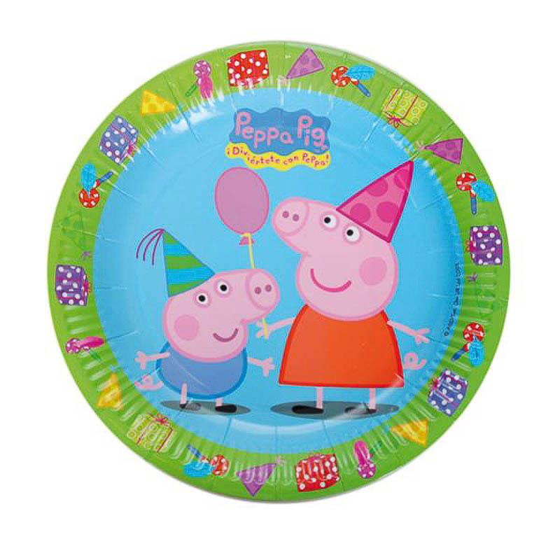 Platos Peppa Pig 23 cm, Pack 8 u.