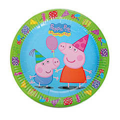 Platos Peppa Pig 23 cm, Pack 8 u.