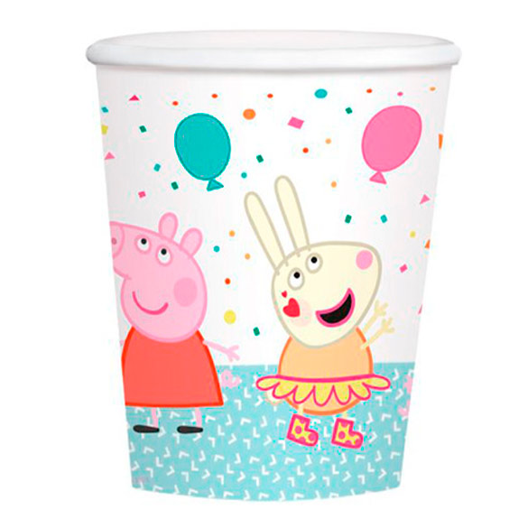 Vasos Peppa Pig 250 ml, Pack 8 u.