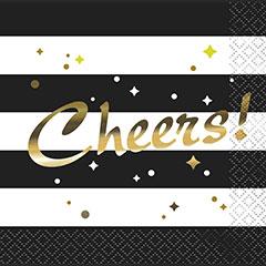 Servilletas Cheers 25 x 25 cm, Pack 16 u.