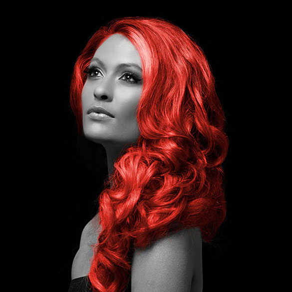 Spray pelo rojo