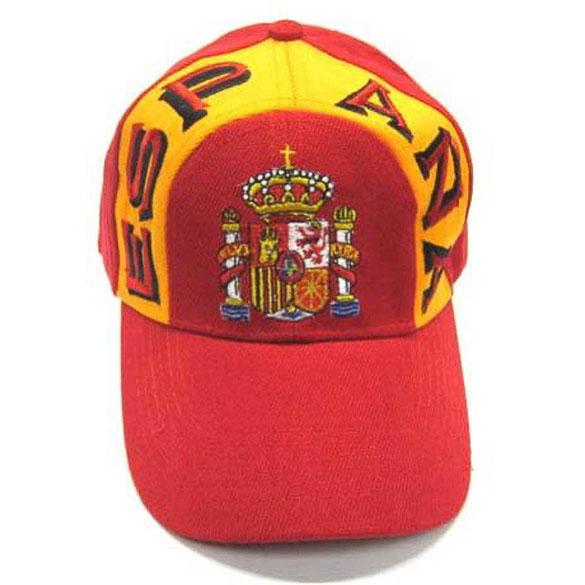 Gorra con visera escudo España