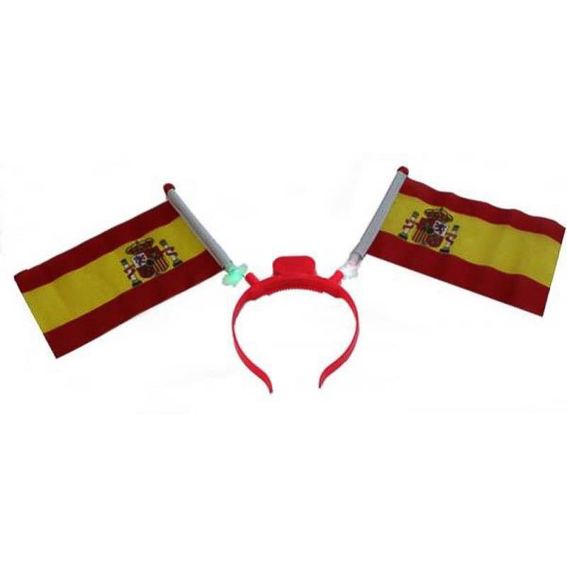 Diadema con dos banderas de España