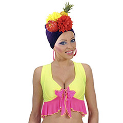 Turbante frutas tropicales