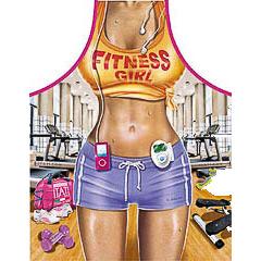 Delantal de cocina divertido, chica fitness sexy