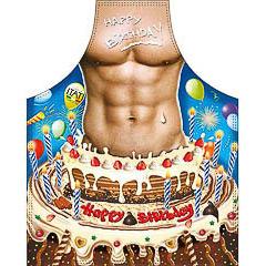 Delantal de cocina divertido, gracioso, chico tarta cumpleaños