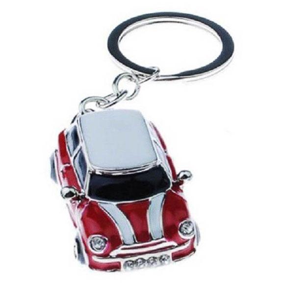 Llavero coche Mini Cooper rojo