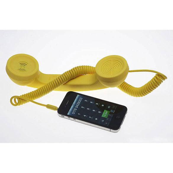 Auricular retro Pop Phone amarillo para iPhones, iPads y Smartphones